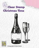 Nellie Snellen - Christmas Time Clear Stamp - Happy New Year - CT007